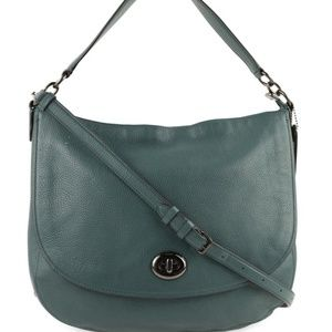 COACH - Dark Turquoise Leather Hobo Crossbody